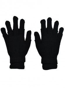 "Gants Mitaines 2 en 1 Rock Gothique Poizen Industries ""Double Black"""