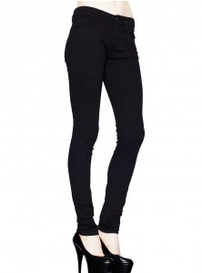 "Pantalon Slim noir rock punk gothique Hell Bunny ""Just Black"""