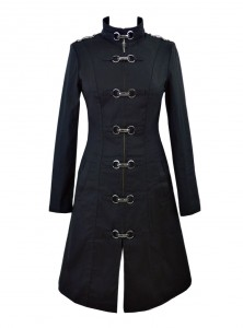 "Manteau Militaire Gothique Rockabilly HR London ""Strait"" - rockangehell.com"