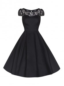 "Robe Rockabilly Gothique HR London ""Black Net"" - rockangehell.com"