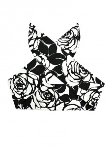 "Foulard Cheveux Pin-Up Rockabilly Retro Rock Ange'Hell ""White Flowers"" - rockangehell.com"