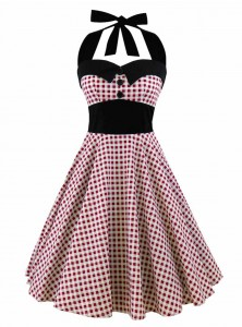 """Robe Pin-Up Années 50 Rockabilly Rock Ange'Hell """"Ashley Red Vichy"""" - rockangehell.com"""