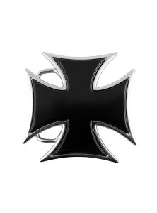 "Boucle de ceinture Gothique Dark Wear Rock Daddy ""Cross"""