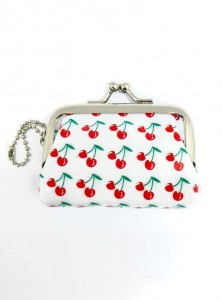 "Porte-Monnaie Rockabilly Vintage Retro Rock Daddy ""White Cherry"""