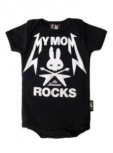 "Body Bébé Rock Six Bunnies ""My Mom Rocks"""