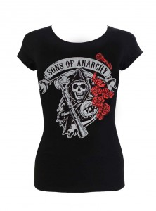 "Tee-shirt Femme Sons of Anarchy ""Reaper with Roses"""