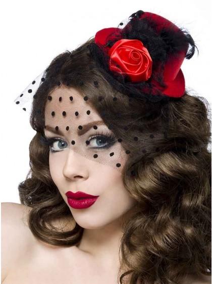 "Barrette Cheveux Chapeau Années 50 Rockabilly Retro ""Red Roses"" - rockangehell.com"