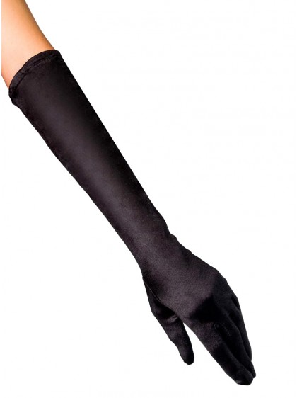 "Gants mi-longs Satin Noir Rockabilly Pin-Up Retro Années 50 ""Glamour Gloves"" -  rockangehell.com"