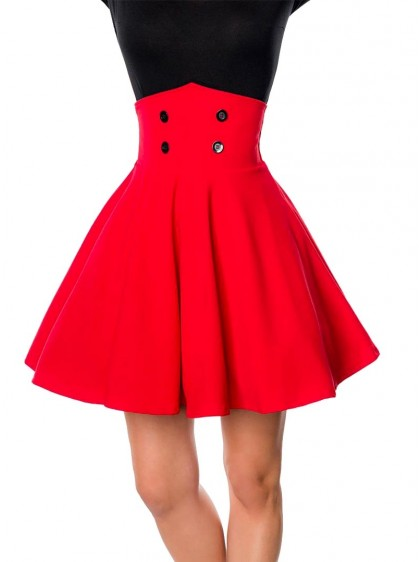 "Jupe Retro Pin-Up Rockabilly Belsira ""Bella Mini Red"" - rockangehell.com"