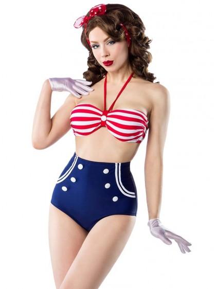 "Maillot de bain 2 pièces Bikini Rockabilly Sailor Retro Pin-Up Belsira ""Marina"" - rockangehell.com"