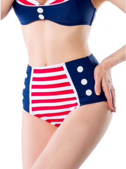 """Bas Maillot de bain Bikini Rockabilly Sailor Pin-Up Belsira """"Oceane"""" - rockangehell.com"""