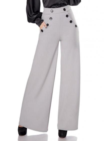 "Pantalon Vintage Rockabilly Belsira ""Lauren Grey"" - rockangehell.com"