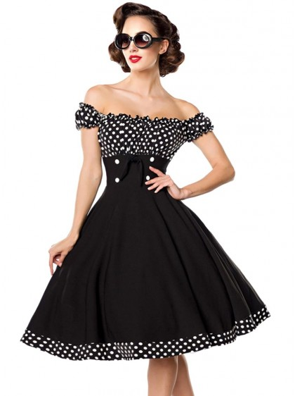 Robe Pin-Up Années 50 Rockabilly Vintage Belsira Bella - rockangehell.com