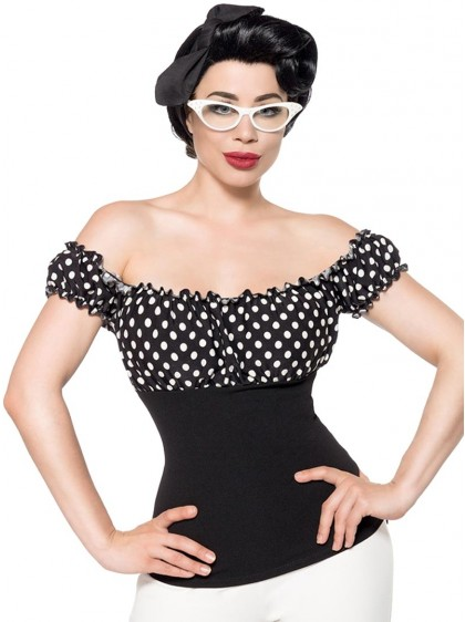 Top Bustier Pin-Up Années 50 Rockabilly Vintage Belsira Bella - rockangehell.com