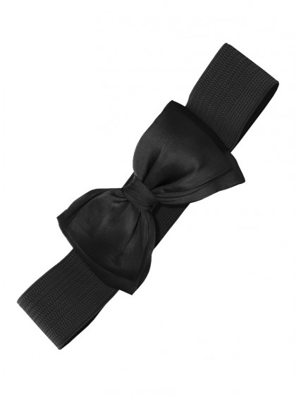 "Ceinture Noire Pin-Up Vintage Rockabilly Retro Banned ""Black Bow"" - rockangehell.com"