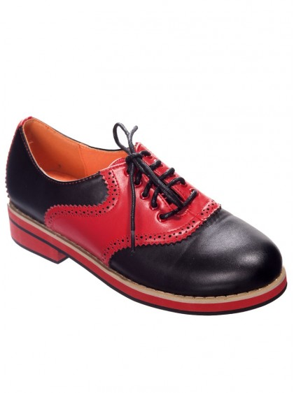 "Chaussures Derby Rockabilly Retro Banned ""Old Soul Dancer"" - rockangehell.com"