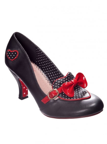 "Chaussures Escarpins Pin-Up Années 50 Rockabilly Banned ""Genie in a Bottle"" - rockangehell.com"