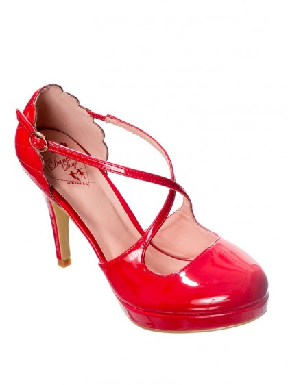 "Chaussures Escarpins Années 50 Pin-Up Rockabilly Banned ""Riverside Red"" - rockangehell.com"