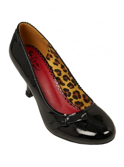 "Chaussures Escarpins Rockabilly Pin-Up Années 50 Banned ""Dragonfly Black"" - rockangehell.com"