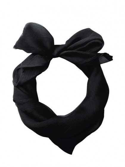 "Foulard Etole Rockabilly Pin-Up Années 50 Banned ""Just Black"" - rockangehell.com"