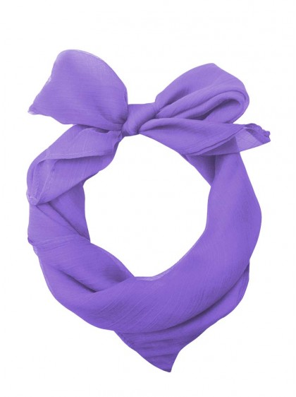 "Foulard Etole Pin-Up Rockabilly Années 50 Banned ""Just Purple"" - rockangehell.com"