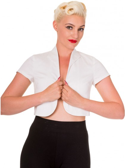 "Bolero Rockabilly Pin-Up Retro Banned ""Just White"" - rockangehell.com"