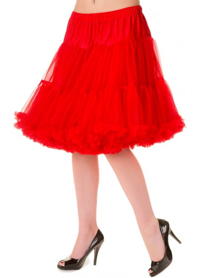 Jupon 52 cm Rouge Rockabilly Gothique Retro Banned - rockangehell.com