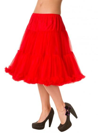 Jupon 60 cm Rouge Rockabilly Vintage Gothique Banned - rockangehell.com