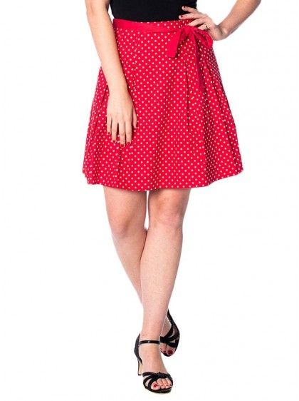 """Jupe Swing Pin-Up Rockabilly Années 50 Banned """"Heather Red"""" - rockangehell.com"""
