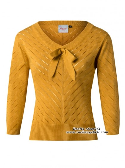 "Pull Top Retro Rockabilly Pin-Up Banned ""Charlie Chevron Mustard"" - rockangehell.com"