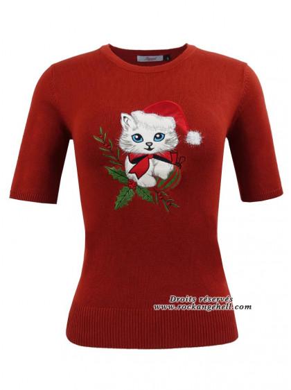 """Pull Rockabilly Vintage Pin-Up Banned """"Holly Cat"""" - rockangehell.com"""