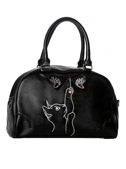 "Sac Rockabilly Retro Pin-Up Banned ""Meow"" - rockangehell.com"