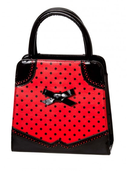 "Sac Retro Rockabilly Pin-Up Banned ""Hands Off My Polka Red""- rockangehell.com"