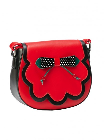 "Sac Pin-Up Années 50 Retro Rockabilly Banned ""Marilou Red"" - rockangehell.com"