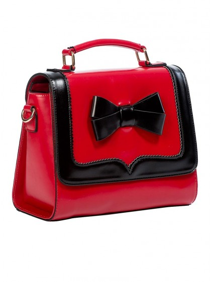 "Sac Retro Vintage Rockabilly Banned ""O'Hara Red"" - rockangehell.com"