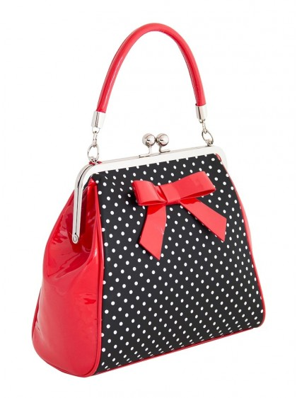 "Sac Pin-Up Rockabilly Retro Banned ""Black Red Polka Starr"" - rockangehell.com"