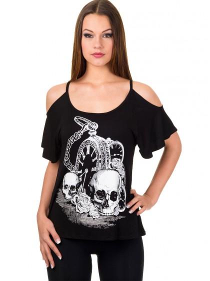 """Débardeur Rock Gothique Banned """"Skull Watch"""""""