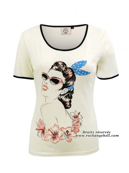 "Tee-Shirt Pin-Up Vintage Rockabilly Banned ""Retro Model"" - rockangehell.com"
