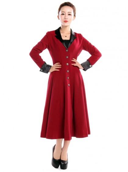 "Manteau Gothique Lolita Vintage Chicstar ""Red Amber"" - rockangehell.com"