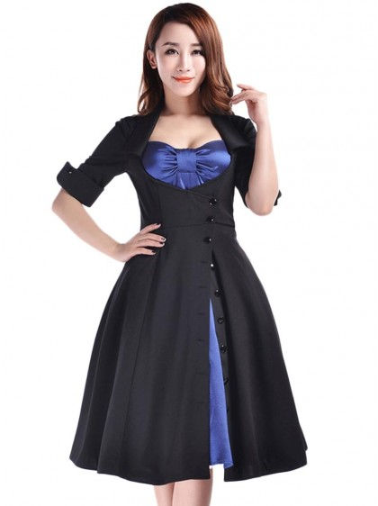 "Robe Rockabilly Lolita Gothique Chicstar ""Amy Blue"" - rockangehell.com"