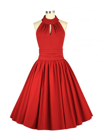 "Robe Soirée Pin-Up Rockabilly Années 50 Chicstar ""Marilyn Red"" - rockangehell.com"