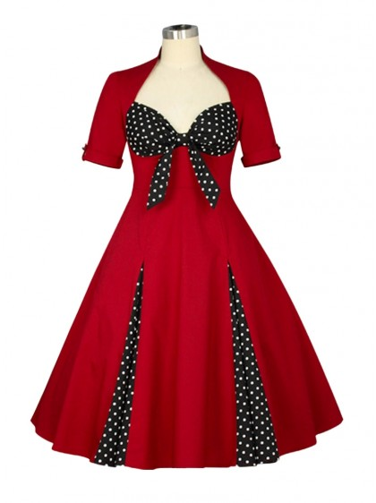 "Robe Retro Pin-Up Rockabilly Chicstar ""Tina Red"" - rockangehell.com"