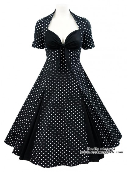 "Robe Vintage Pin-Up Rockabilly Chicstar ""Tina Black"" - rockangehell.com"