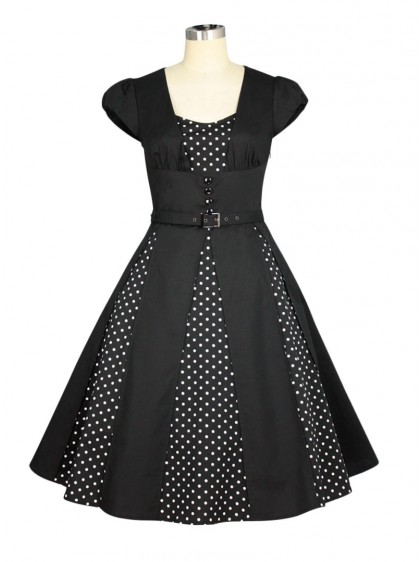 "Robe Retro Pin-Up Rockabilly Chicstar ""Marcia Black"" - rockangehell.com"