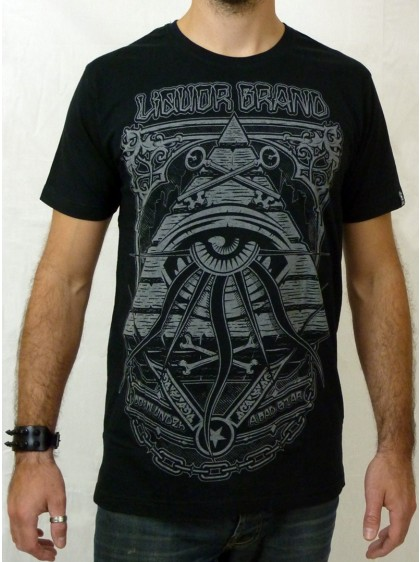 "T-shirt rock Liquor Brand ""Eye Pyramid"""