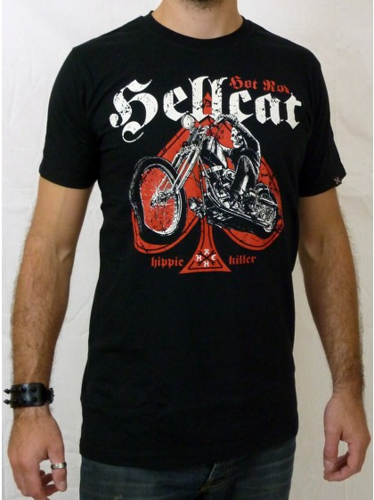 "Tee-shirt punk rock homme Hotrod Hellcat ""Hippie Killer"""