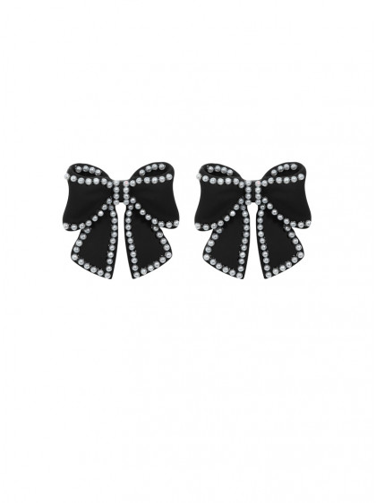 "Boucles d'oreille Pin-Up Rockabilly Vintage Collectif ""Lisa Bow"" - rockangehell.com"