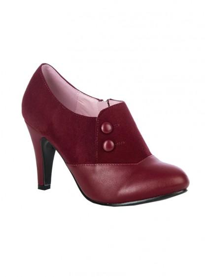 "Chaussures Bottines Escarpins Pin-Up Rockabilly Vintage Lulu Hun ""Maria Red"" - rockangehell.com"