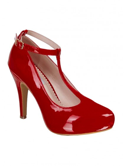 "Chaussures Escarpins Vintage Pin-Up Rockabilly Lulu Hun ""Laura Red"" - rockangehell.com"