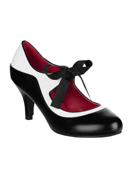 "Chaussures Escarpins Vintage Rockabilly Pin-Up Lulu Hun ""Jeanie Black"" - rockangehell.com"